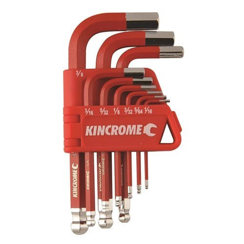 BALL JOINT HEX KEY & WRENCH SET SHORT SERIES 9 PIECE 1