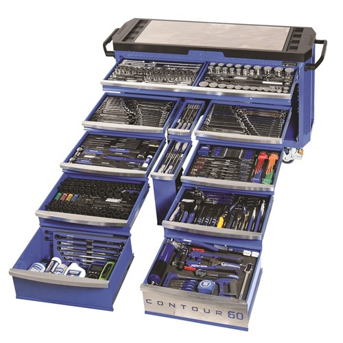 CONTOUR 60 TOOL TROLLEY 500 PIECE 14, 38, 12 & 34 DRIVE 1