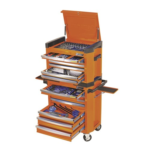 CONTOUR TOOL WORKSHOP 228 PIECE 14, 38 & 12 DRIVE (orange) 1