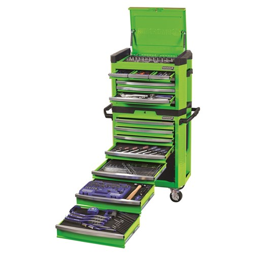 CONTOUR TOOL WORKSHOP 329 PIECE 14, 38 & 12 DRIVE (green) 1