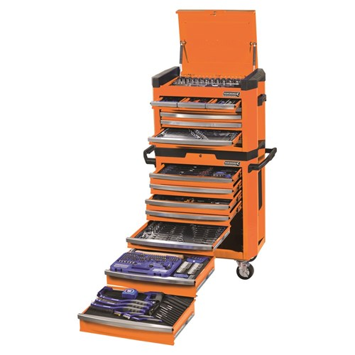 CONTOUR TOOL WORKSHOP 472 PIECE 14, 38 & 12 DRIVE (orange) 1