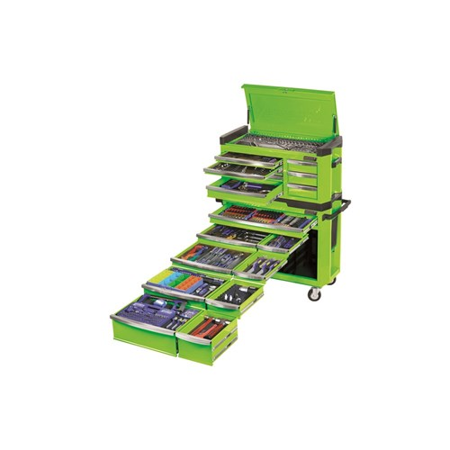 CONTOUR TOOL WORKSHOP 594 PIECE 14, 38 & 12 DRIVE (green) 1