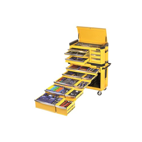 CONTOUR TOOL WORKSHOP 594 PIECE 14, 38 & 12 DRIVE (yellow) 1