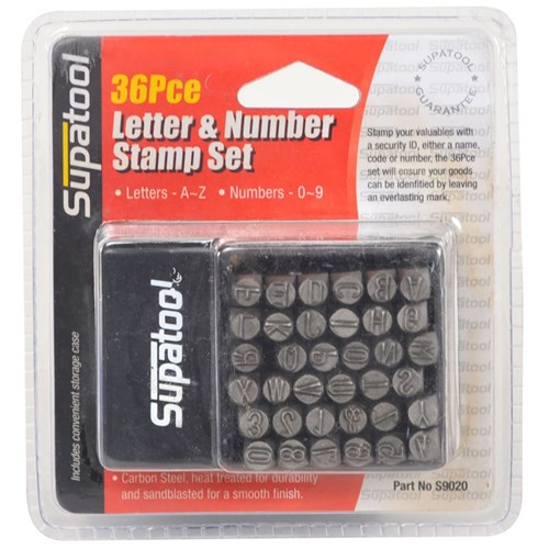 LETTER & NUMBER STAMP SET 36 PIECE 1