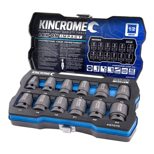 LOK-ON™ IMPACT SOCKET SET 12 PIECE 12 DRIVE 1