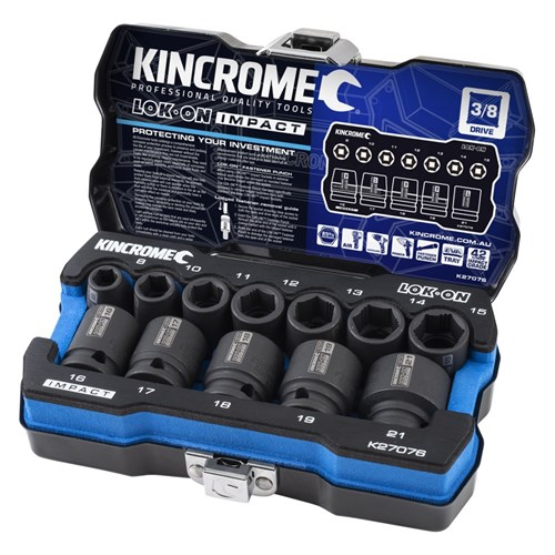 LOK-ON™ IMPACT SOCKET SET 12 PIECE 38 DRIVE - METRIC 1