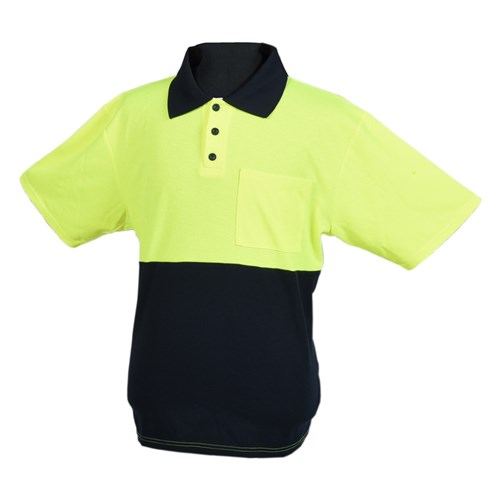 SHORT SLEEVE POLO - HI-VIS SMALL 1