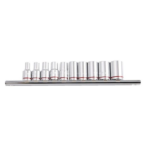 SOCKET RAIL 10 PIECE 14 DRIVE IMPERIAL (MIRROR POLISH) - IMPERIAL 1
