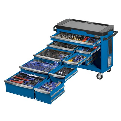 TOOLS ONLY - CONTOUR TOOL TROLLEY 484 PIECE 14, 38 & 12 DRIVE 1