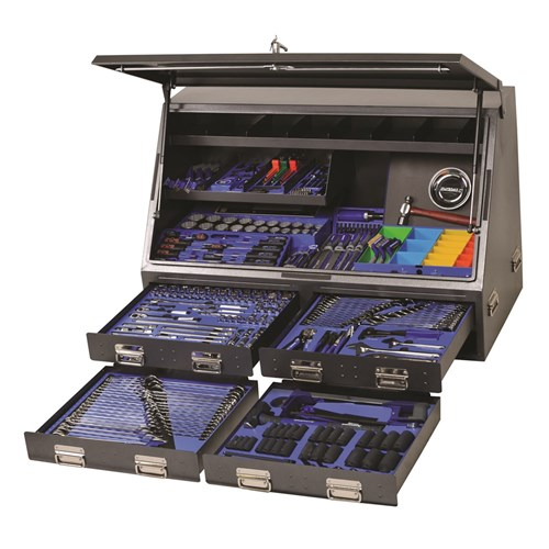 TOOLS ONLY - UPRIGHT TRUCK BOX TOOLKIT 383 PIECE 14, 38 & 12 DRIVE 1