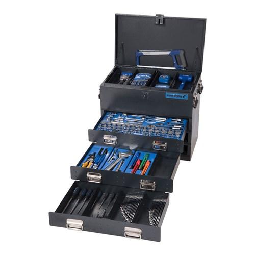 TRUCK BOX TOOL KIT 219 PIECE 14, 38 & 12 DRIVE (black) 1
