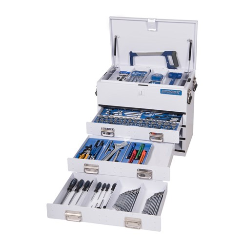 TRUCK BOX TOOL KIT 219 PIECE 14, 38 & 12 DRIVE (white) 1