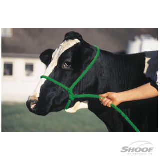 Halter Poly Rope Cow Black