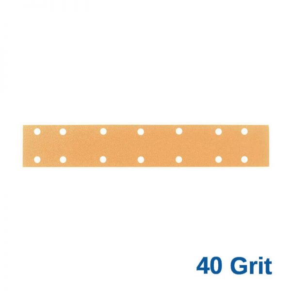 40 Grit Velcro Speed File 70 x 420 x 14 Hole Pack of 50