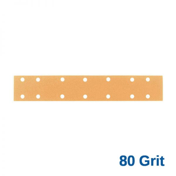 80 Grit Velcro Speed File 70 x 420 x 14 Hole Pack of 50