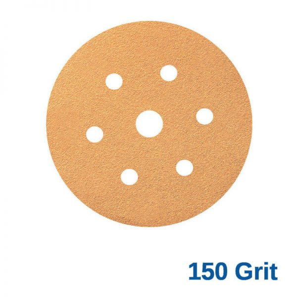 Smirdex 150 GRIT Velcro Disc 7H x 6 Pk100