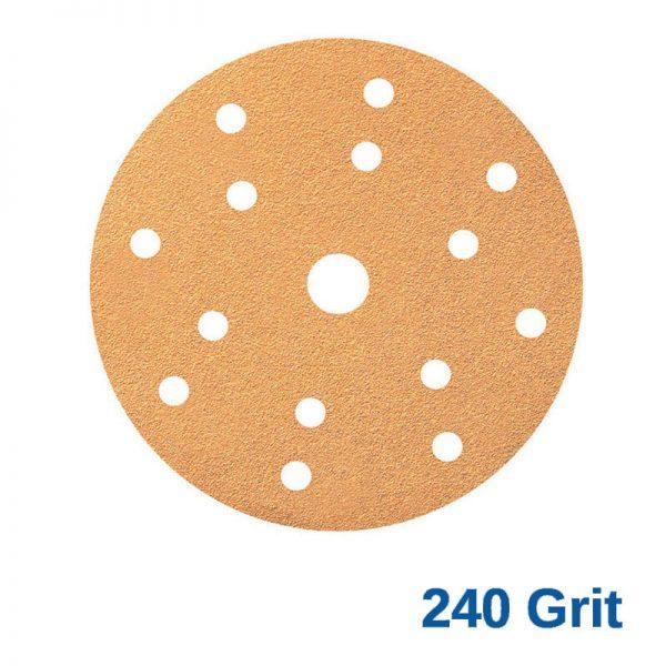 Smirdex 240 GRIT Velcro Disc 15H x 6 Pk100