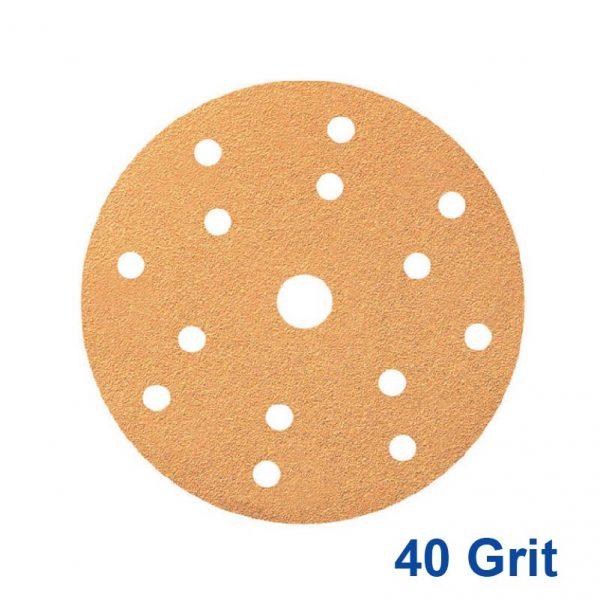 Smirdex 40 GRIT Velcro Disc 15H x 6 Pk50