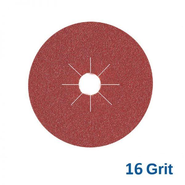 Smirdex Fibre Disc 125mm 16 Grit Pack of 25