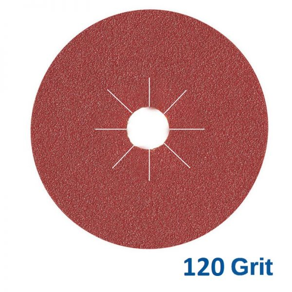 Smirdex Fibre Disc 180mm 120 Grit Pk25
