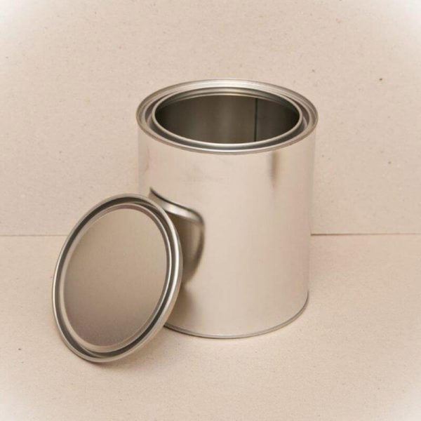 1Lt Metal Open Top Can & Lid (75-Ctn)