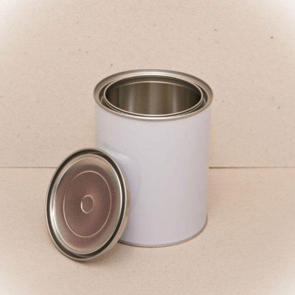 2Lt Metal Open Top Can & Lid (48-Ctn)
