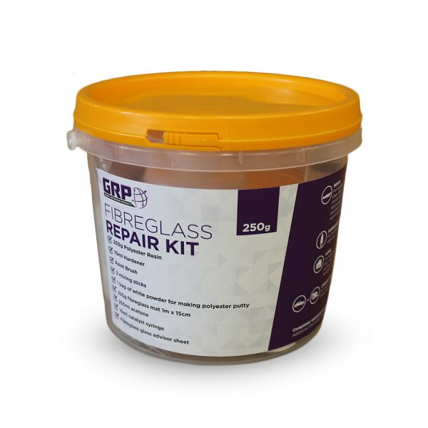 GRP Fibreglass Repair Kit 250g