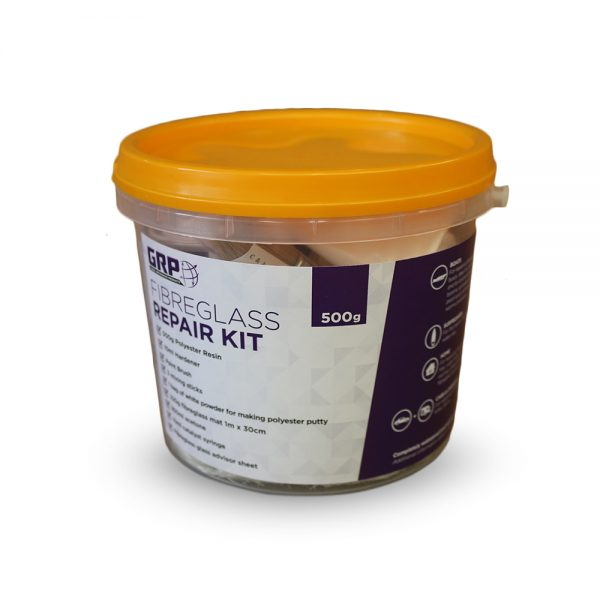 GRP Fibreglass Repair Kit 500g