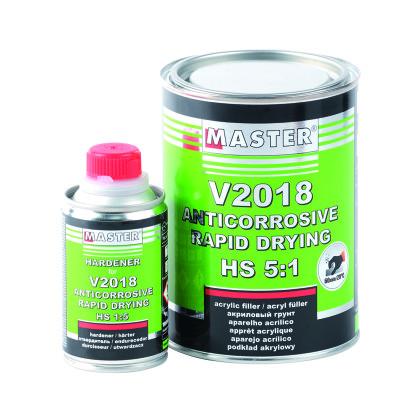 Master V2018 Rapid Drying HS Primer 1Lt - Grey