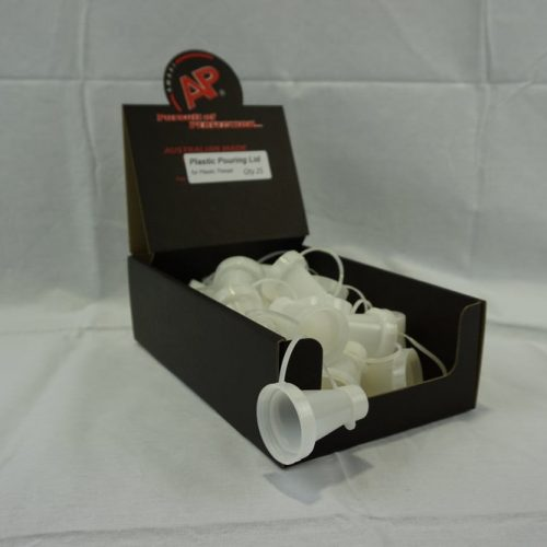 Plastic Pouring Lid - White