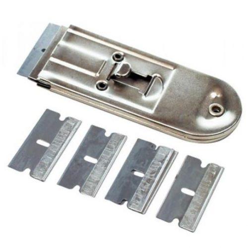 Scraper with Retractable Locking Blade