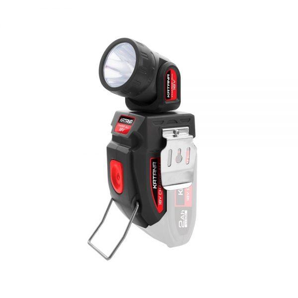 (product) Katana 18V Charge-All Cordless Swivel Head Torch