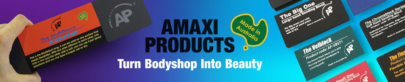 amaxi body work and sanding products