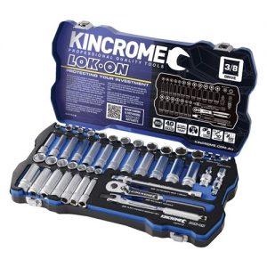 "(product) Kincrome Lok-On Socket Set 3/8"" Drive - Metric & Imperial"